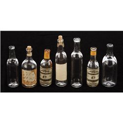 Mighty Joe Young miniature bottles and glasses (12) from the nightclub effects scenes