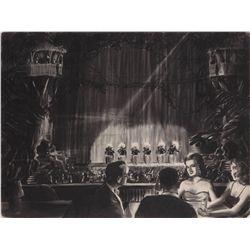 "Mighty Joe Young RKO art department concept of ""Golden Safari"" night club"