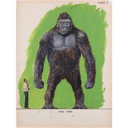 Willis O'Brien concept art of Kong for King Kong vs. Frankenstein