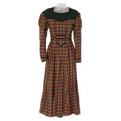 """Jean Parker """"Beth"""" plaid period dress designed by Walter Plunkett from Little Women"""