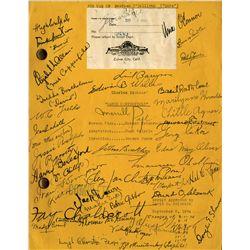 "Maureen O'Sullivan ""Dora"" original MGM David Copperfield script signed by the cast"