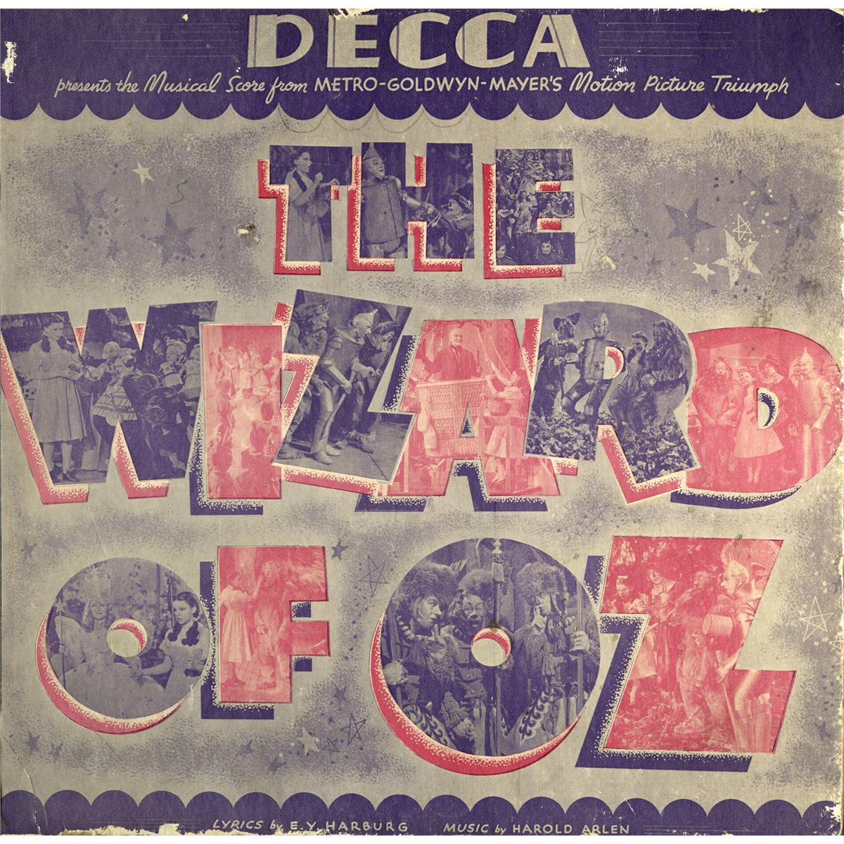 Judy Garland's personal copy of an original The Wizard of Oz Decca record  album set