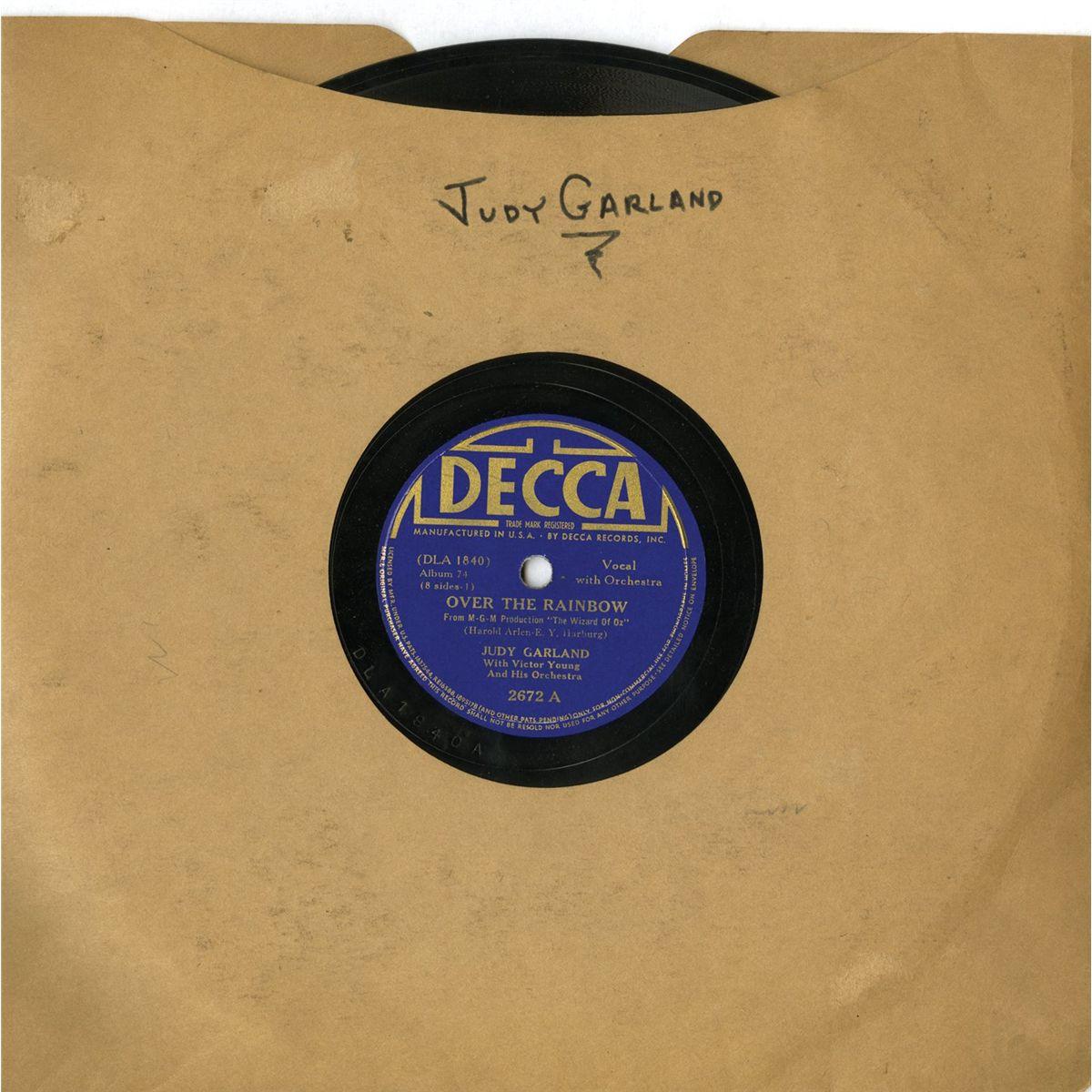 Judy Garland's personal copy of an original The Wizard of Oz Decca record  album set