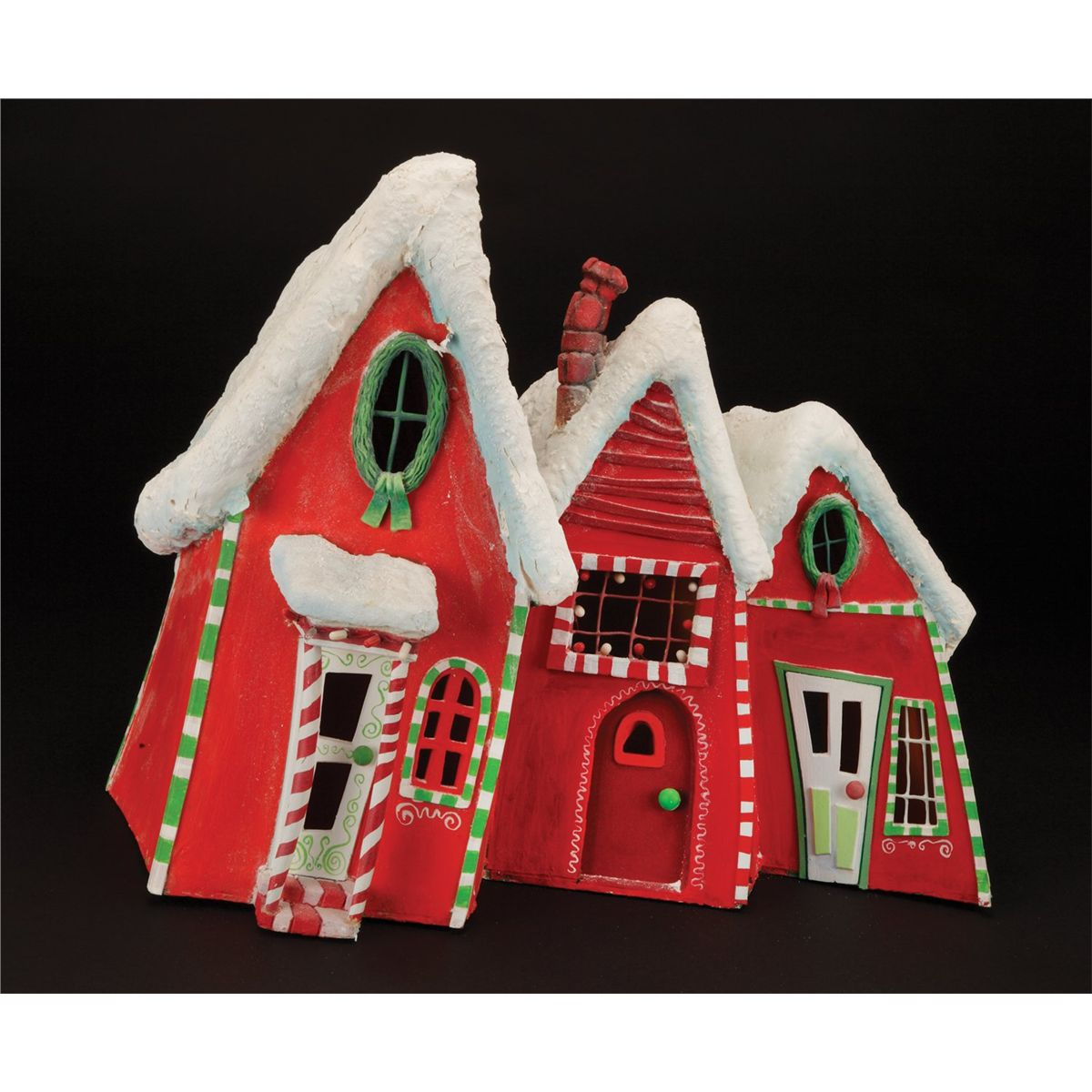 Nightmare Before Christmas Houses.Christmas Town Houses From The Nightmare Before Christmas