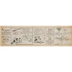 Original comic strip art for Barney Google by Billy DeBeck, 1931