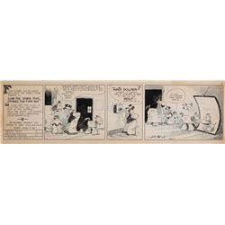 Original comic strip art for Barney Google by Billy DeBeck, Aug. 11, 1931