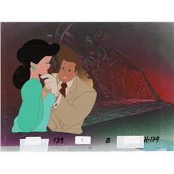 Production cel of Lonette & Detective Frank Harris on production background from Cool World