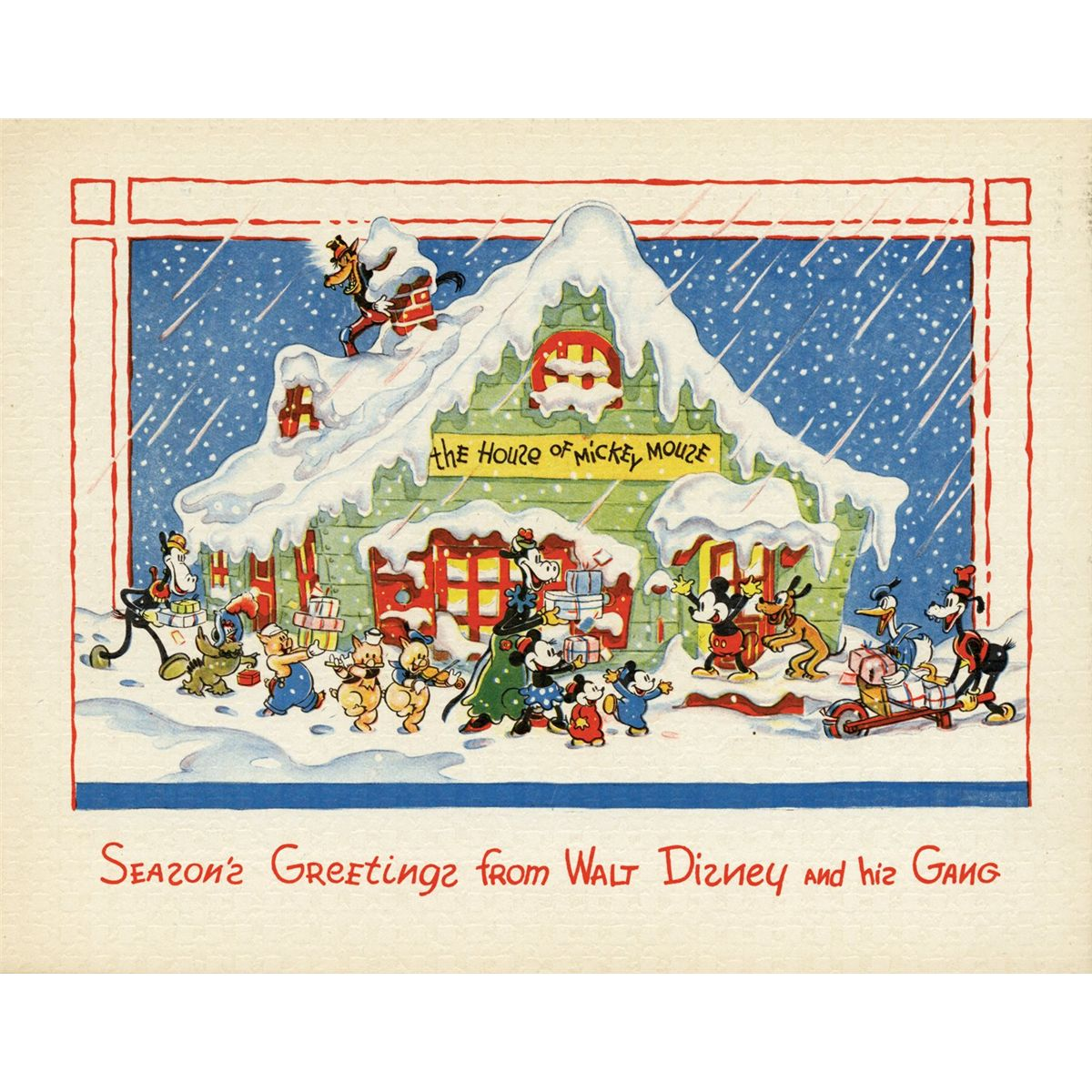 Disney Christmas Cards.Collection Of 27 Walt Disney Studios Christmas Cards 1935 1983