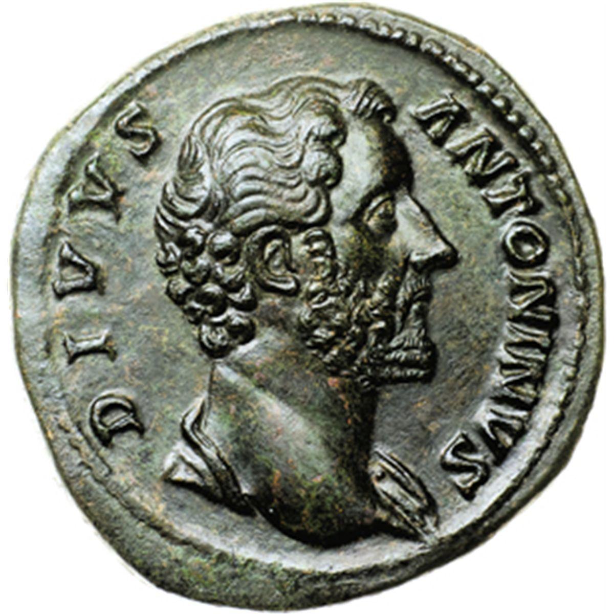 dadb652ed5 Antonino Pio (138-161). Sesterzio, emesso da Marco Aurelio.