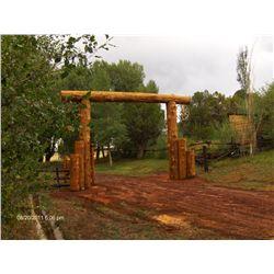 Custom Built Ranch Entrance