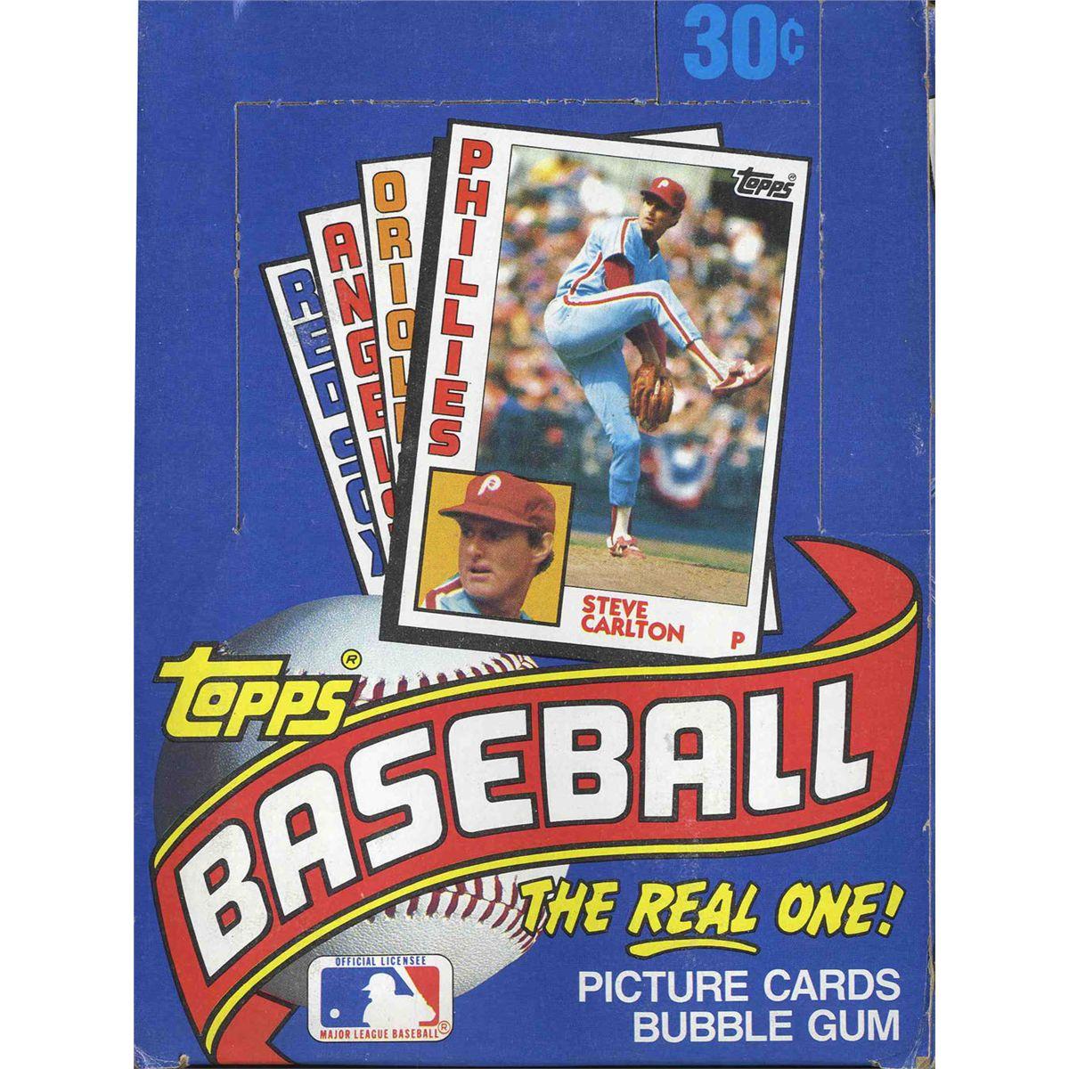 1984 Topps Baseball Cards Box