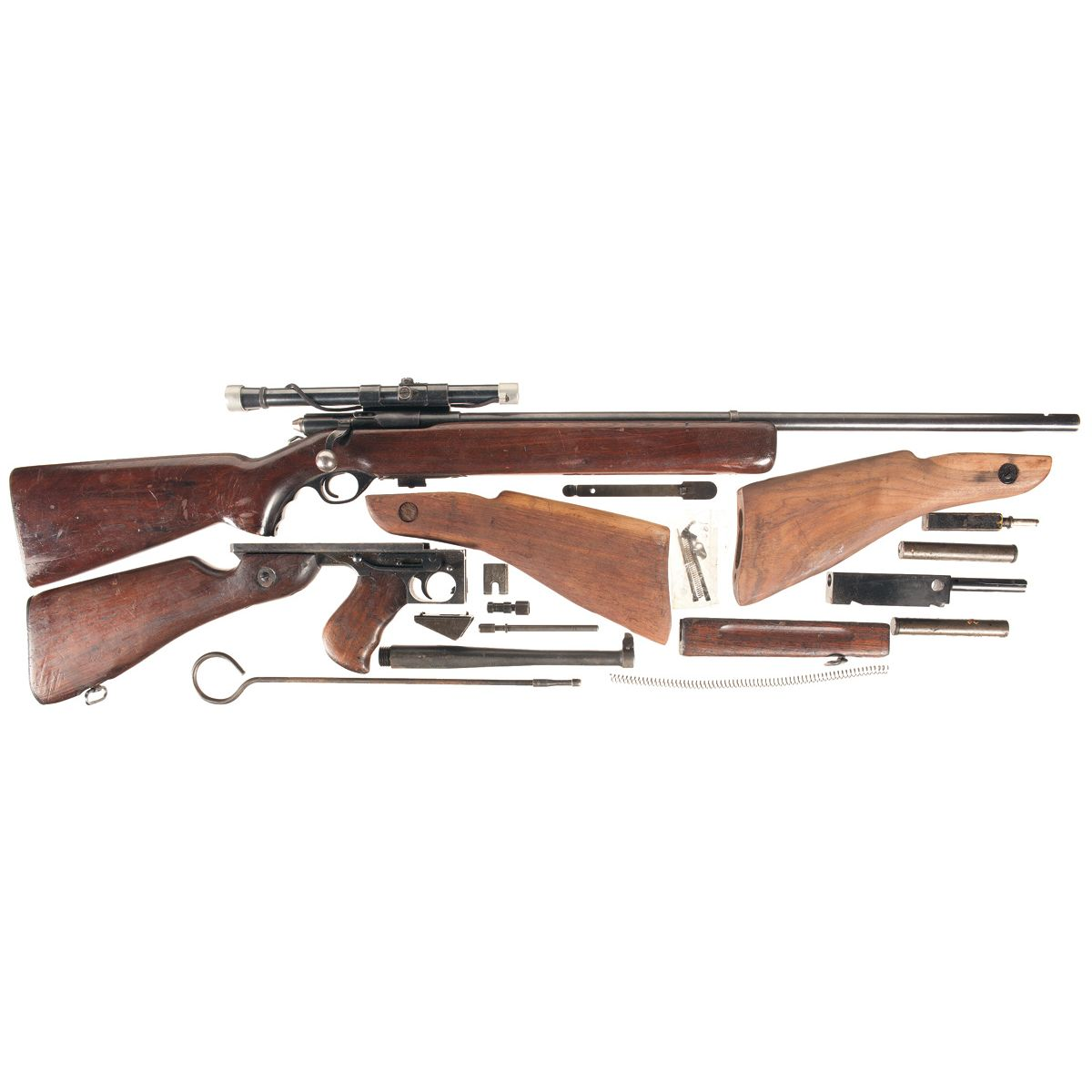 One Bolt Action Rifle and One Parts Kit -A) Mossberg Model 44US (b) Bolt  Action Rifle with Scope