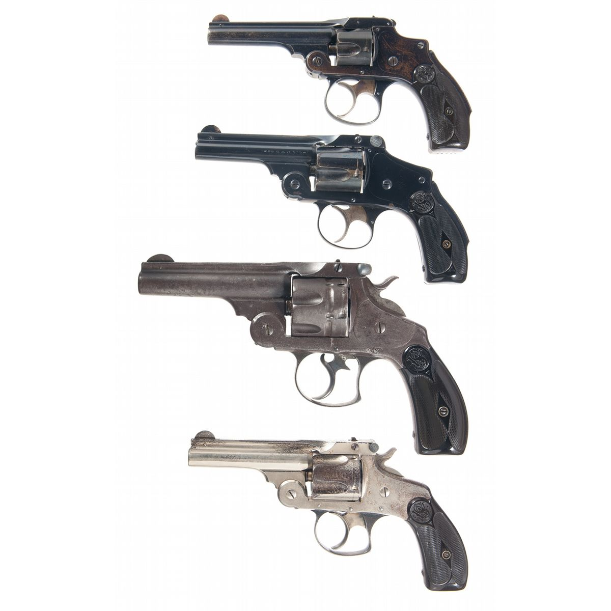 Four Smith & Wesson Double Action Revolvers -A) Smith
