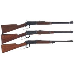 Three Winchester Model 94 Lever Action Carbines -A) Winchester Model 94 Lever Action Carbine with Bo