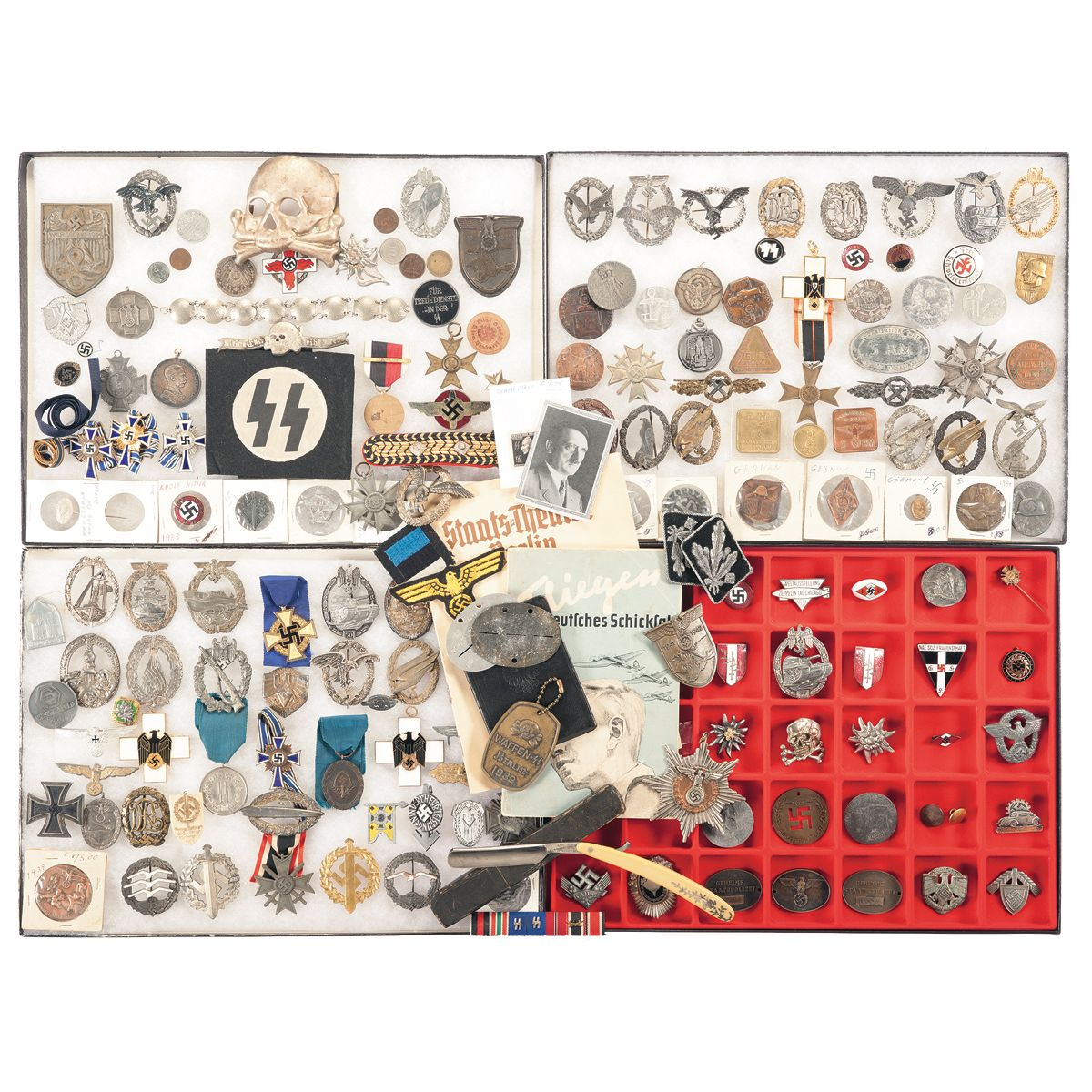 Nazi style Buttons, Pins, Medals, Insignia and Other Miscellaneous Items