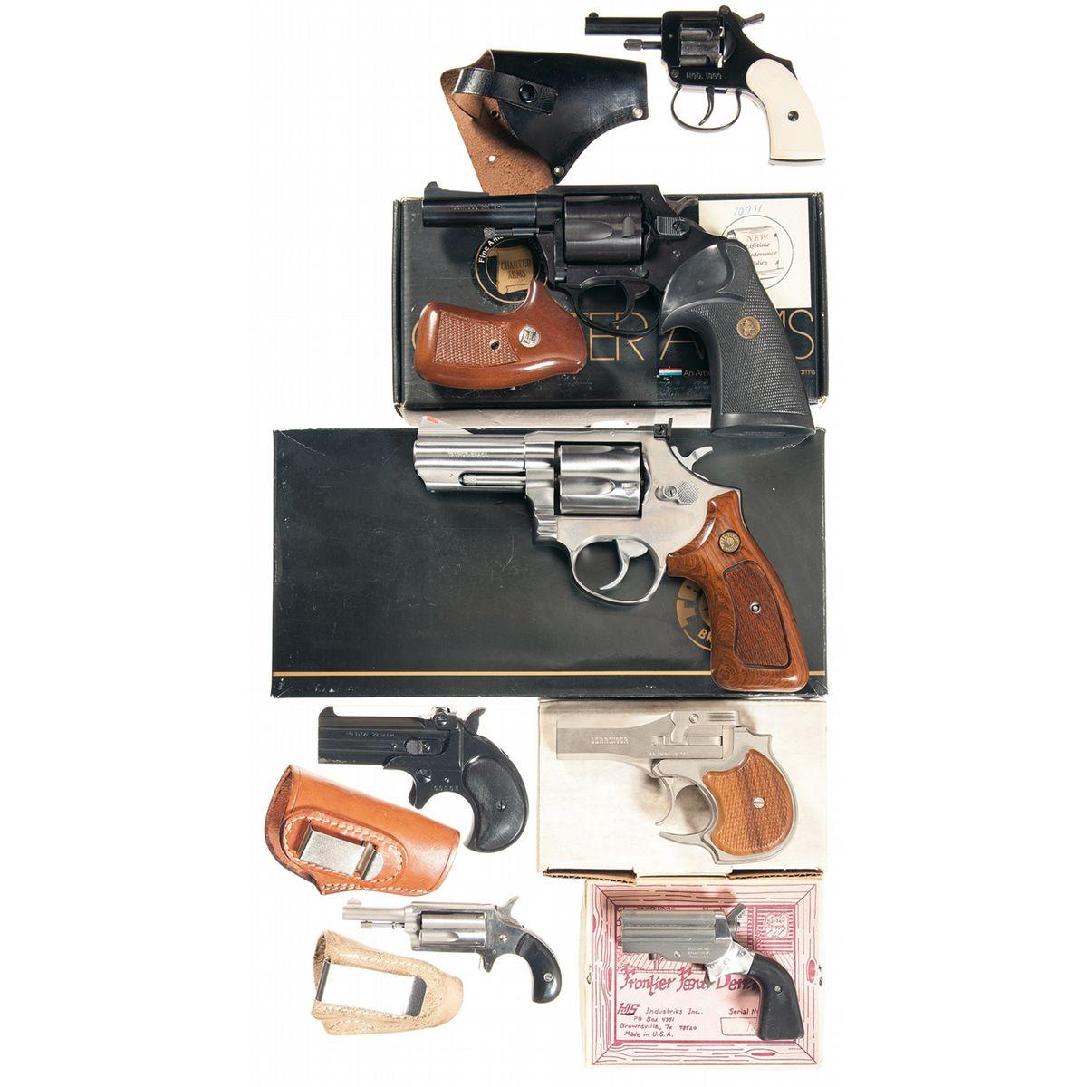 Seven Hand Guns -A) Mondial Model 1960 Double Action Blank Revolver