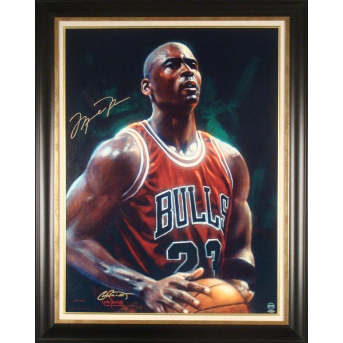 2279a0e7efd Michael Jordan Signed Fine Art Print Framed -Next Point. Loading zoom