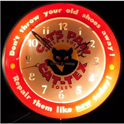 Cat's Paw Advertising Clock