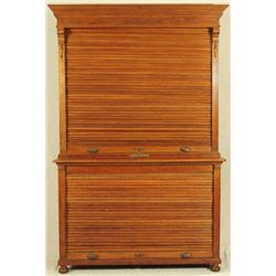 Ohmer File Case Co. Oak File Cabinet