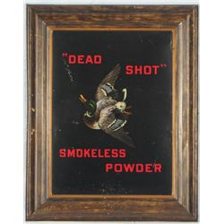 """Dead Shot"" Smokeless Powders Self Framed Tin Sign"