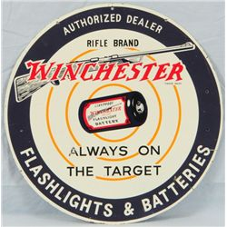 Winchester Flashlights and Batteries Sign