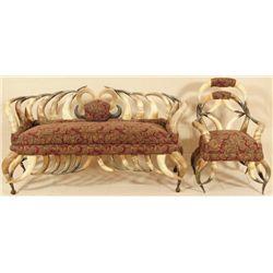 Victorian Horn Parlor Set