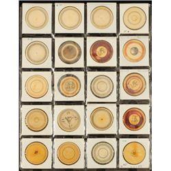 20 Antique Ivory Poker Chips