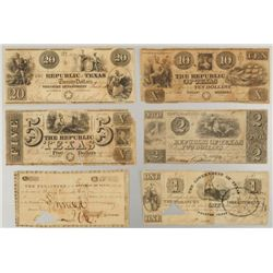 Republic of Texas Currency Collection