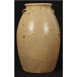 Signed JR 6 Gallon Texas Stoneware Jar