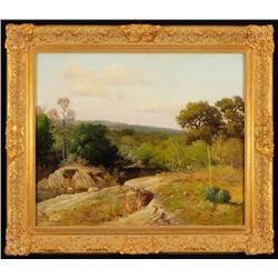 Porfirio Salinas Texas Landscape Oil Painting