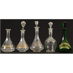 5 Whiskey Bottles From The Buckhorn Saloon