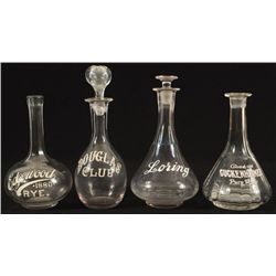 4 Whiskey Bottles From The Buckhorn Saloon