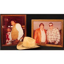Bum Phillips Straw Hat & Photographs