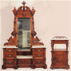 Victorian Step Down Dresser & Commode
