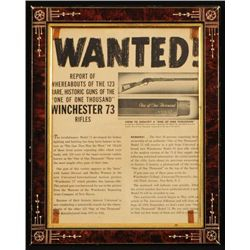 Winchester 1873 One of One Thousand Wanted Poster