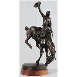 Wyoming Centennial Roundup Bronze 1890-1990