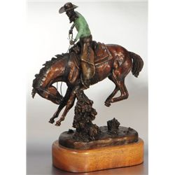 """E.E. Heikka """"Bucking Bronco"""" Bronze Statue 14/36"""