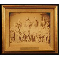 Rare 1880 Crow Indian Delegation Photograph