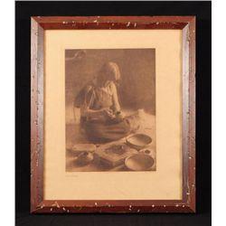 "E. S. Curtis ""The Potter"" Photogravure"