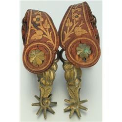 Pair of Ornate Mexican Child's Spurs