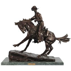 "Frederic Remington ""Cowboy"" Bronze"