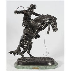 Frederic Remington  The Bronc Buster  Bronze