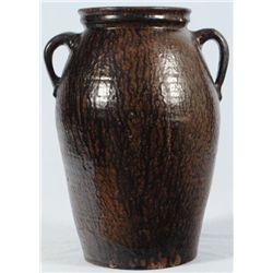 6 Gallon Texas Stoneware Churn Attr to J. Leopard