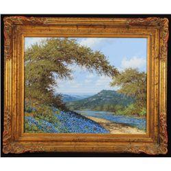 Robert Harrison Bluebonnet Oil Painting