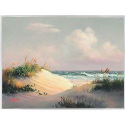 Dalhart Windberg Beach Scene Oil Painting