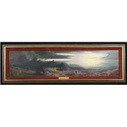 P.B. Kime Moon-Light Stage Oil Painting