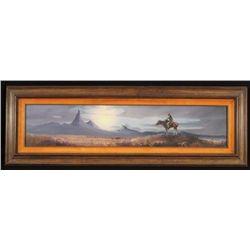 P.B. Kime Western Landscape Oil Painting