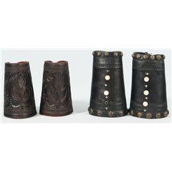 2 Pair Leather Cowboy Cuffs