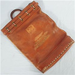 Santa Fe Railroad Leather Mail Bag Galveston Texas