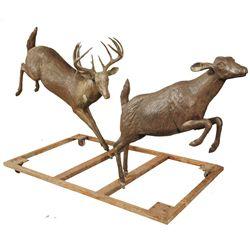 Edd Hayes Life Size Deer Bronze Sculpture